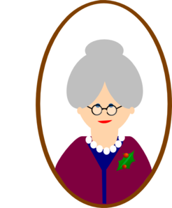 clip black and white Grandmother clipart. Grandma clip art at
