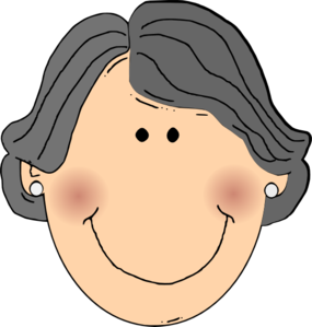 vector royalty free Happy grandma clip art. Grandmother clipart