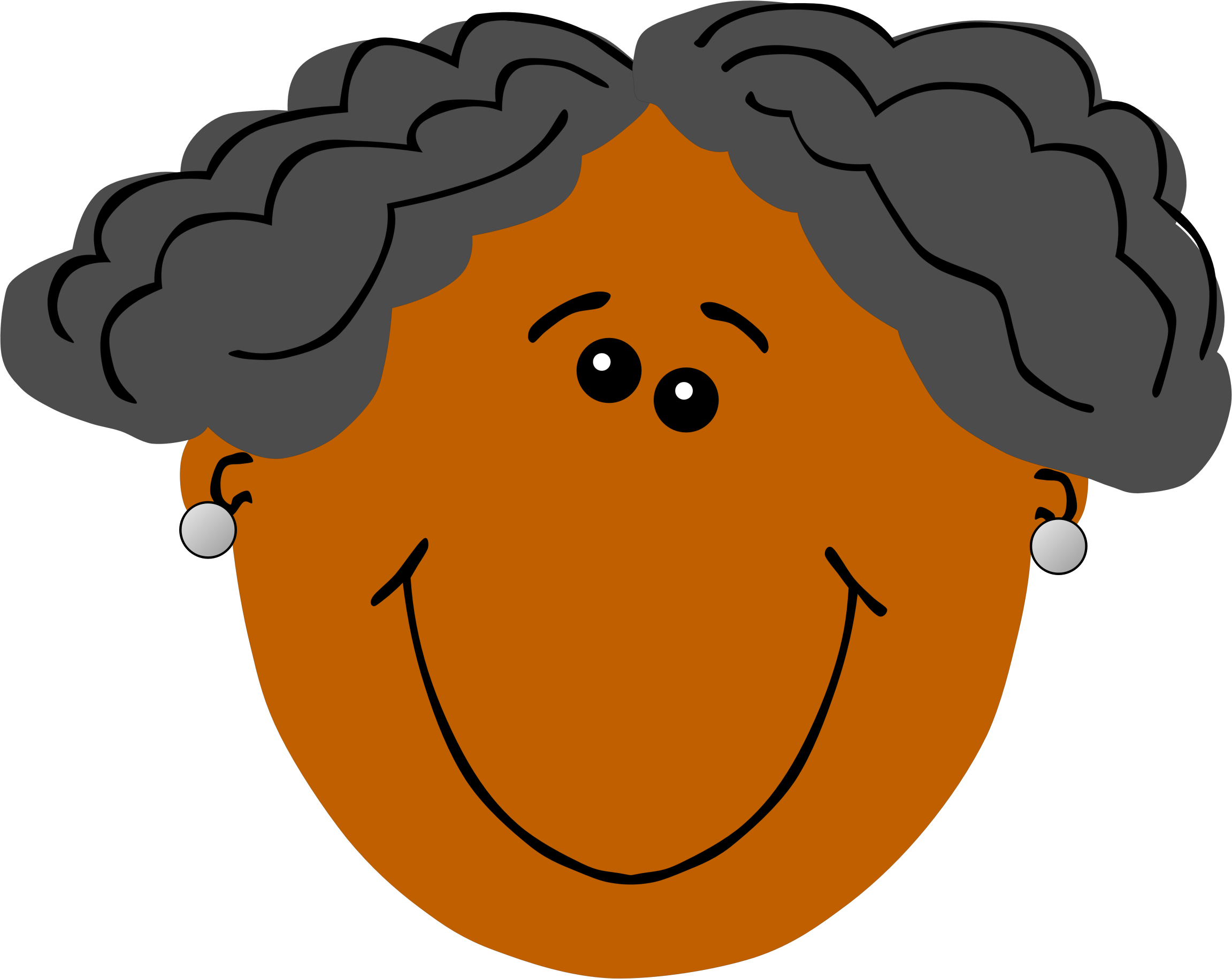 svg library Grandma clipart brown. With dark skin icons