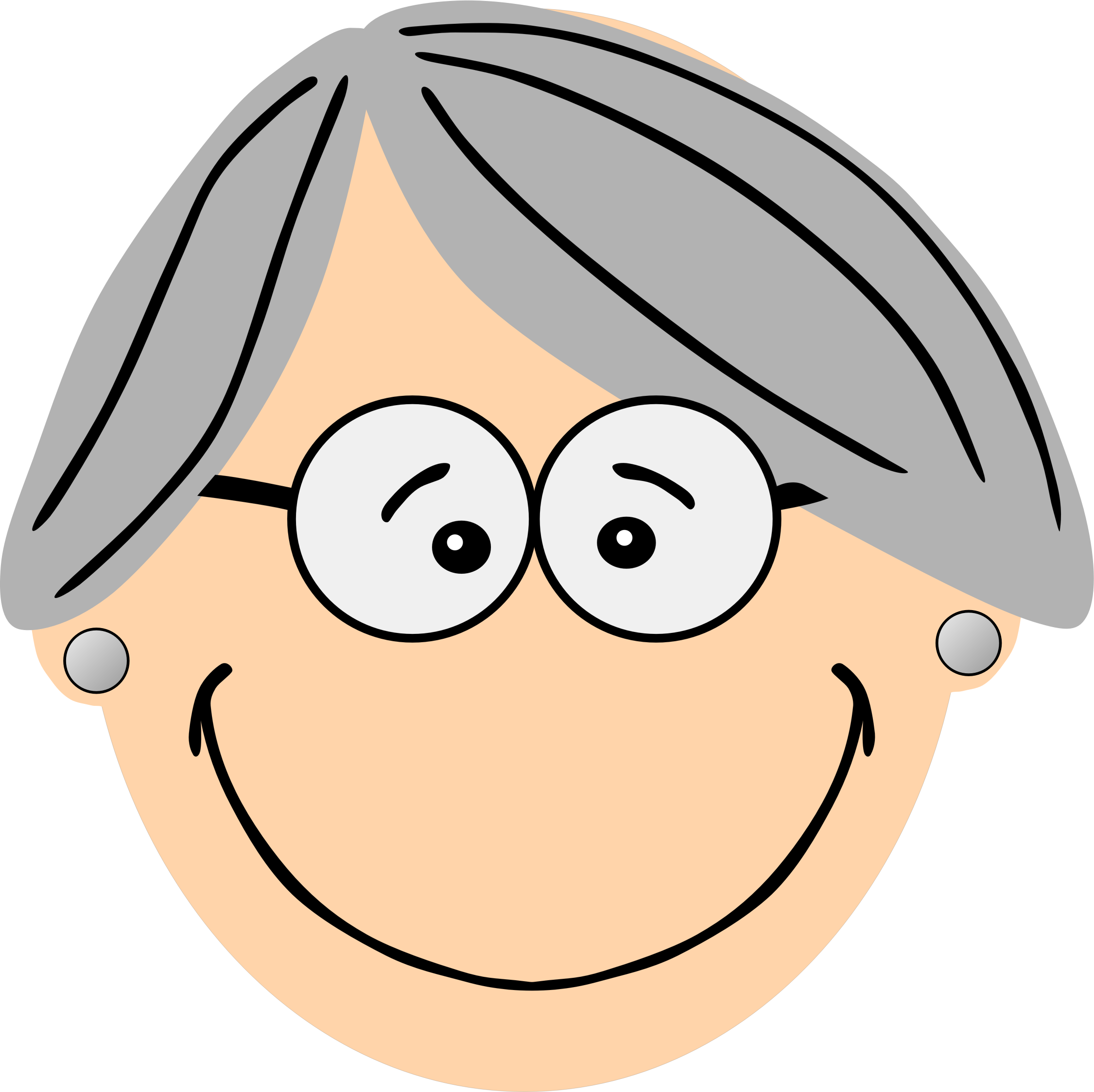 png black and white Grey haired grandma big. Grandparent clipart granma