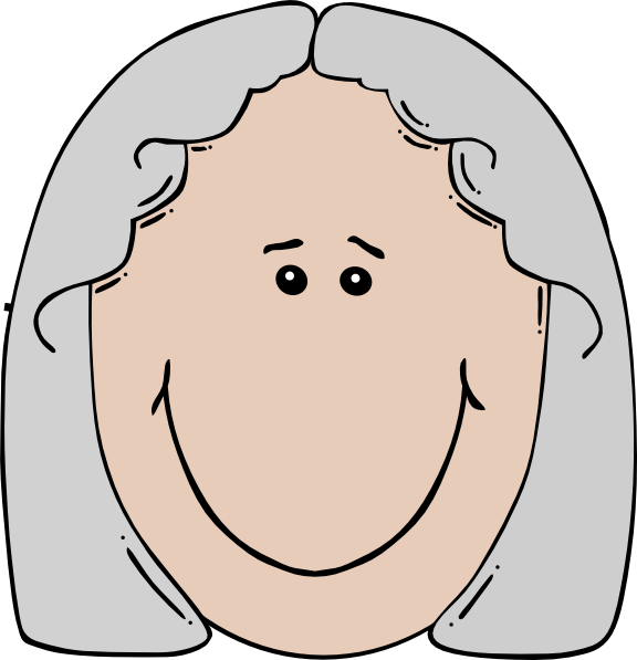 picture Grandparent clipart head. Old woman clip art