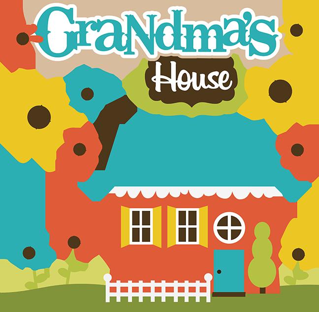 svg freeuse download Grandma clipart illustration. S house svg collection