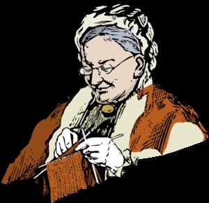transparent download Knitting granny clip art. Grandma clipart illustration