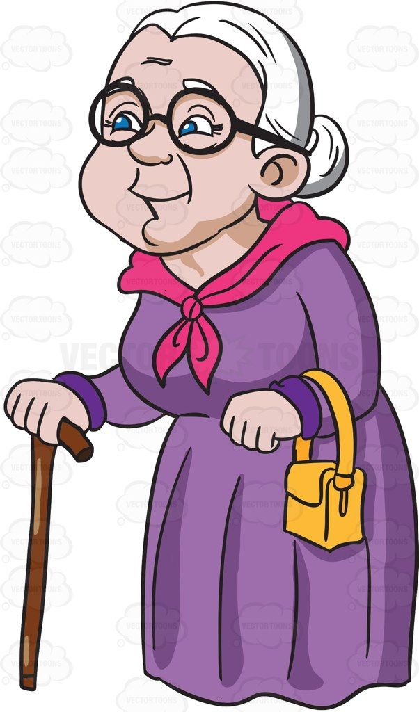 graphic library stock A charming and happy. Grandmother clipart