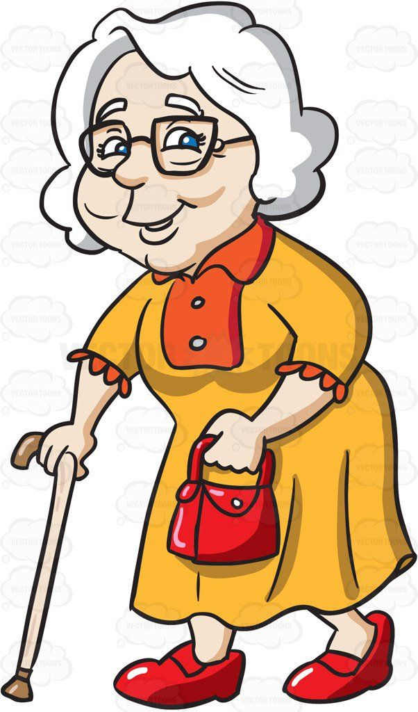 png transparent library Grandmother clipart. A charming going out