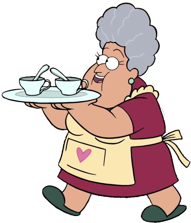 clipart black and white library Abuelita disney wiki fandom. Baking drawing grandma
