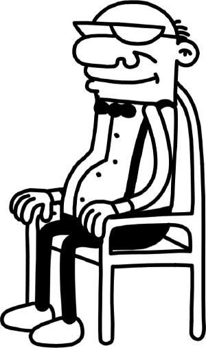 png freeuse Poptropica wiki grandpapng. Grandpa clipart chair