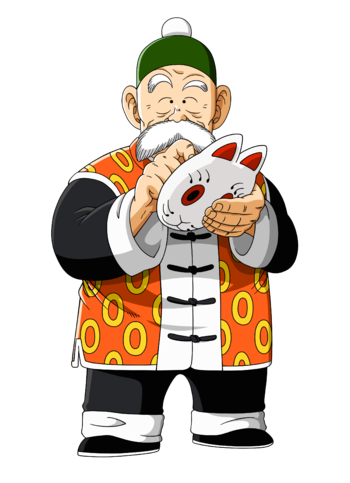 png stock Grandpa clipart grandson. Dragon ball supporting cast
