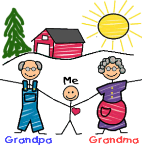 picture freeuse download Grandparents day outline . Grandparent clipart grandma cookie