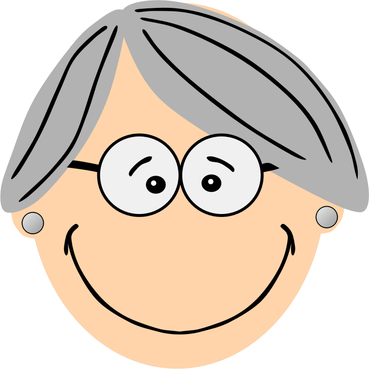 svg royalty free library Grandma glasses cliparts free. Grandparent clipart head