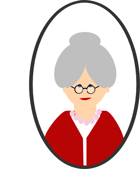 clip transparent library Granny clip art at. Grandparent clipart head