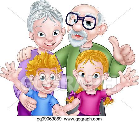image royalty free Eps illustration cartoon kids. Grandparent clipart kid clipart