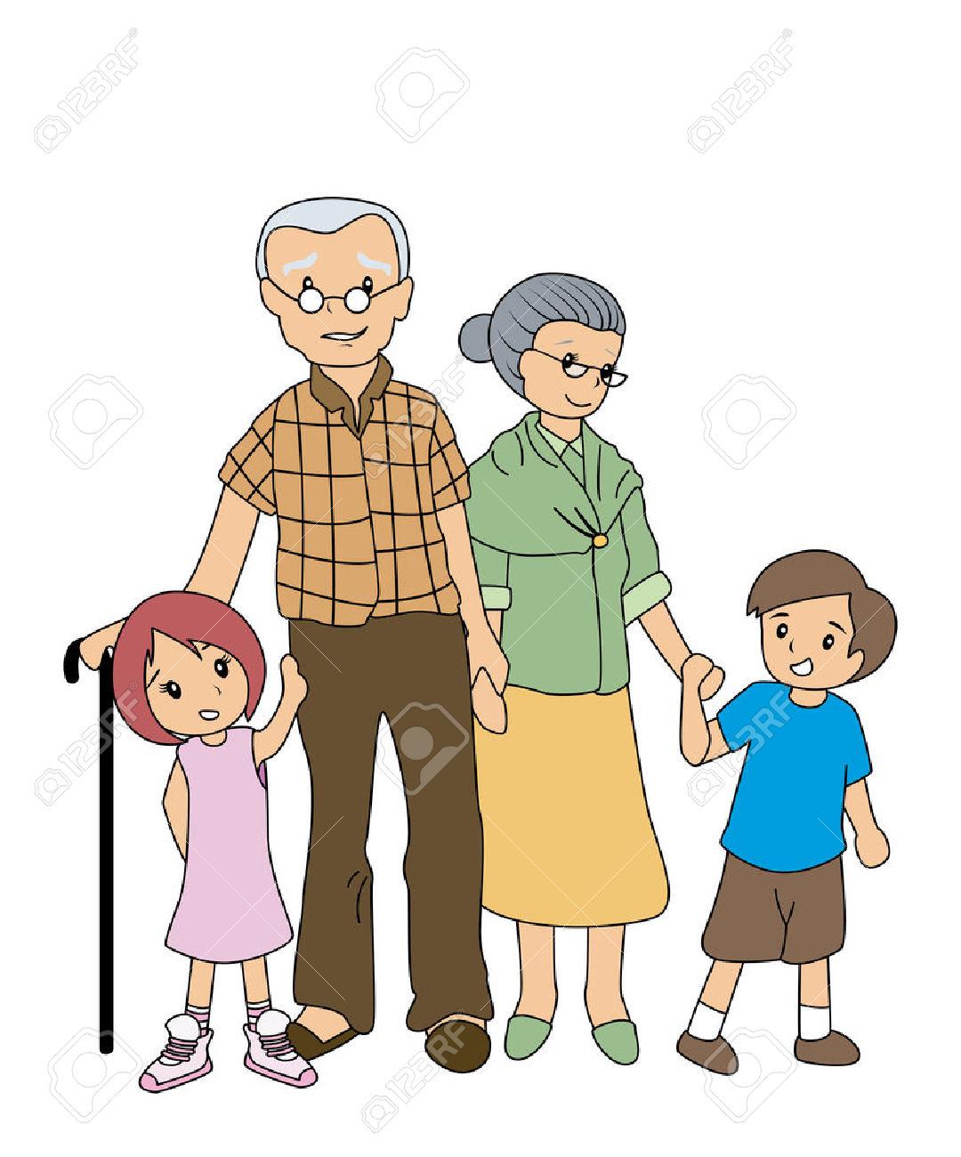 clipart freeuse download Grandparent clipart kid clipart. Children with grandparents panda