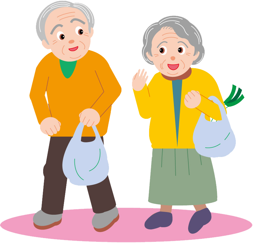 vector black and white stock Grandparent clipart old age home. Couple drawing cartoon clip
