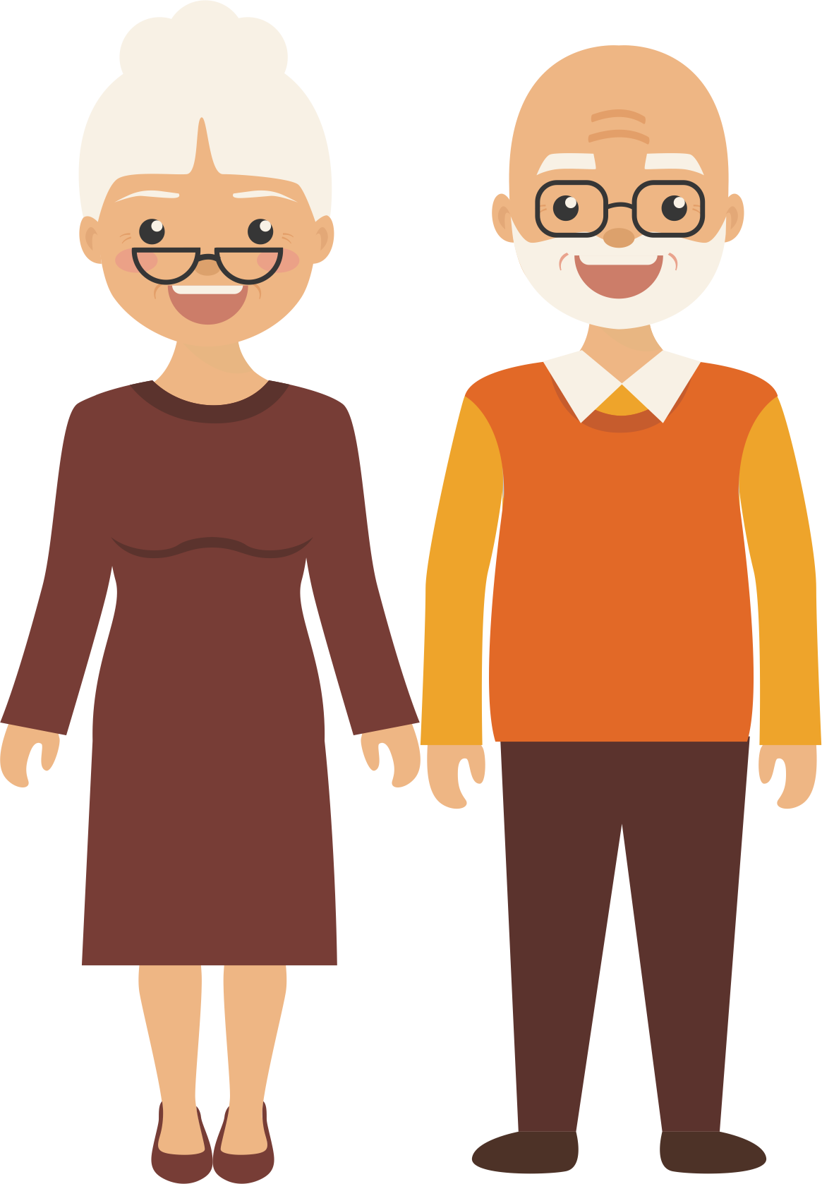 vector black and white Clip art happy man. Grandparent clipart old age home