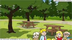 vector royalty free stock A charming family of. Grandparent clipart picnic