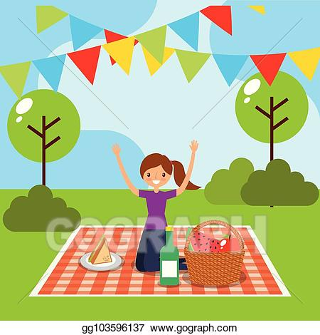 picture freeuse library Vector happy people illustration. Grandparent clipart picnic