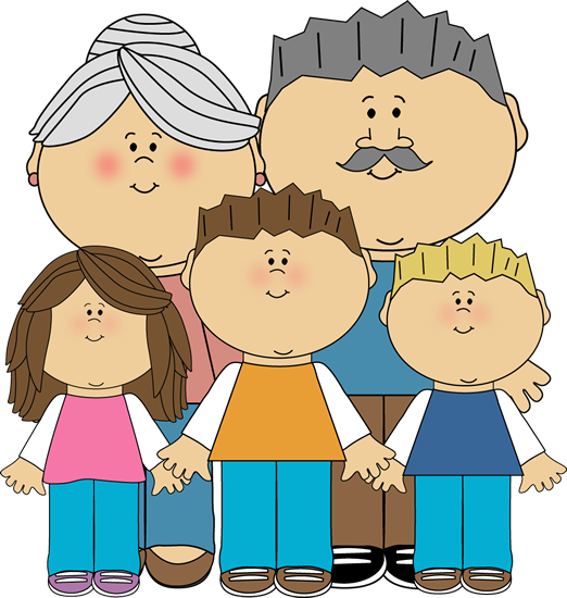 png freeuse stock Grandparents and grandchildren clip. Grandparent clipart word