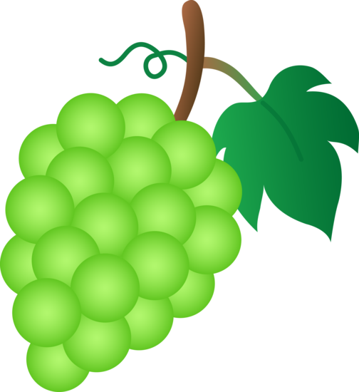 clipart royalty free stock Green grapes . Grape clipart