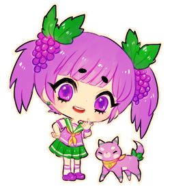 png library download Grape clipart chibi. Fanart chan by onisuu