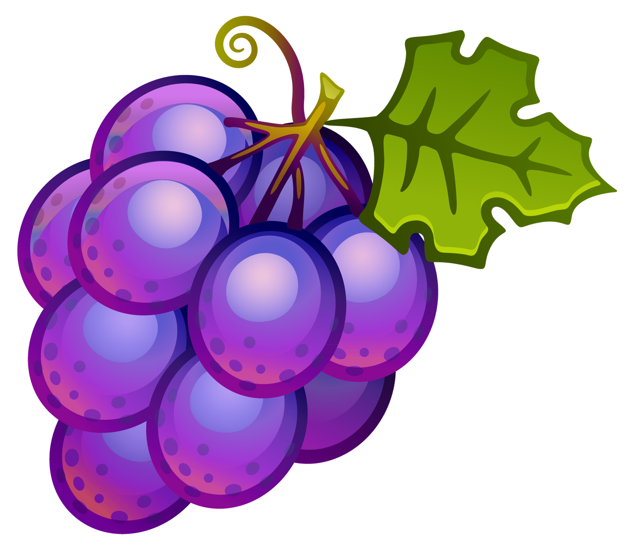 clip royalty free Grape clipart different fruit. Large painted grapes png