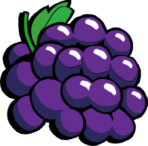 vector Grape clipart grape cluster. Retro grapes clip art