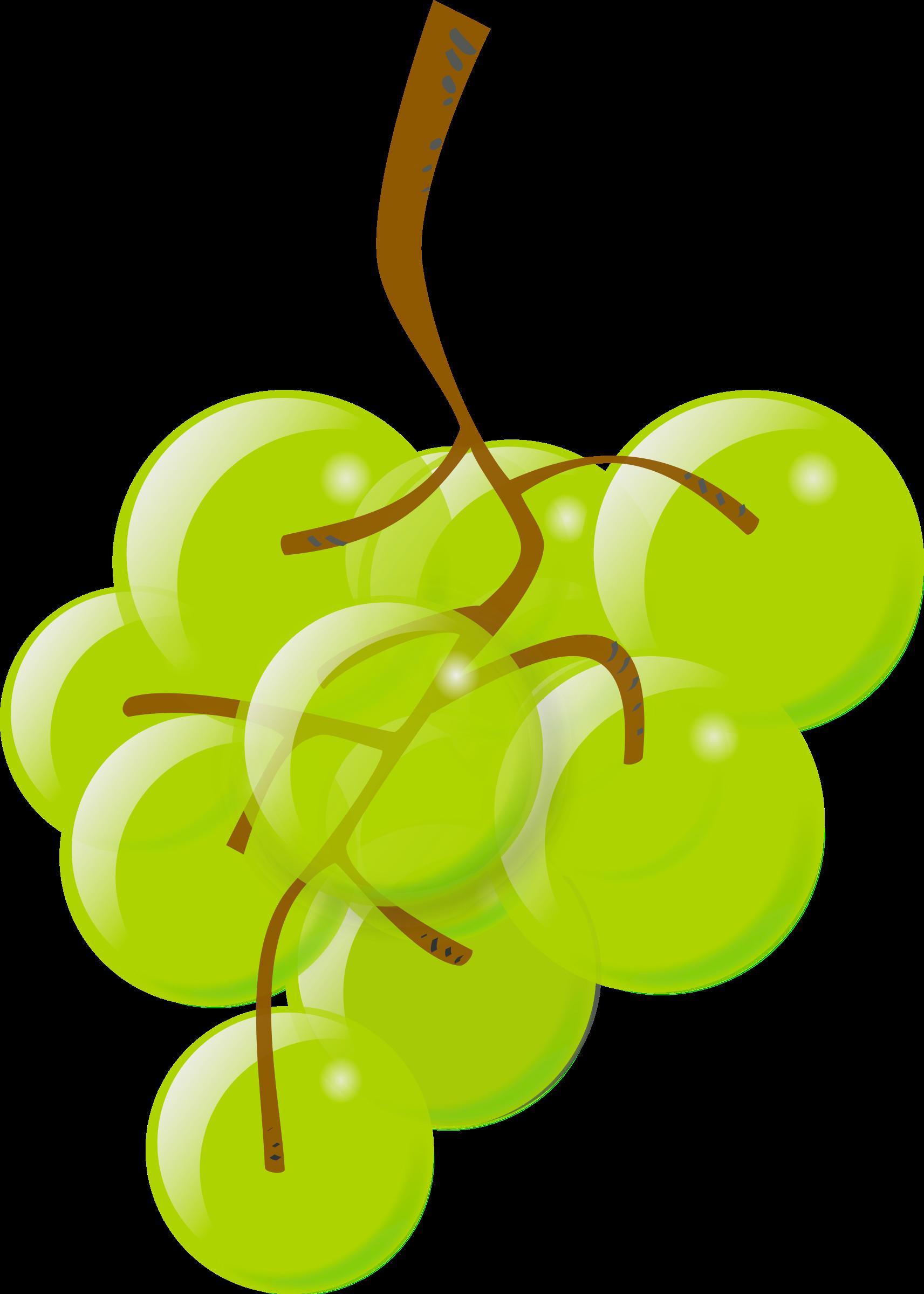 clip freeuse download Grape clipart illustration. Green grapes big image