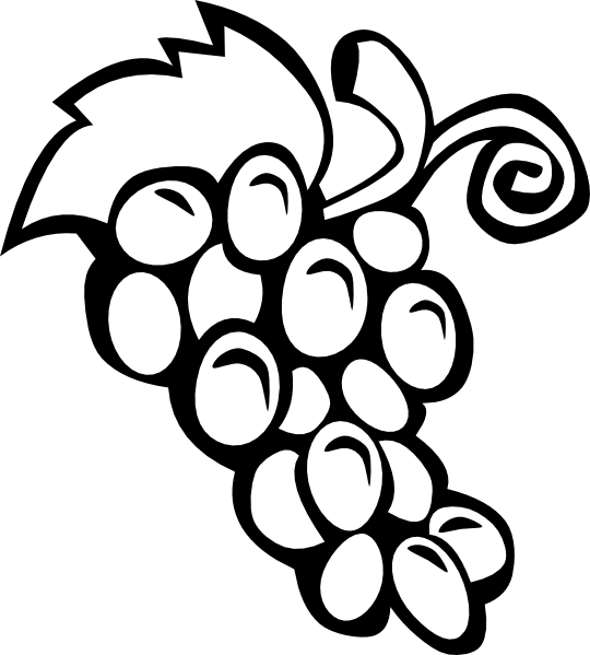 picture transparent library Free printable black art. Grapevine clipart winery