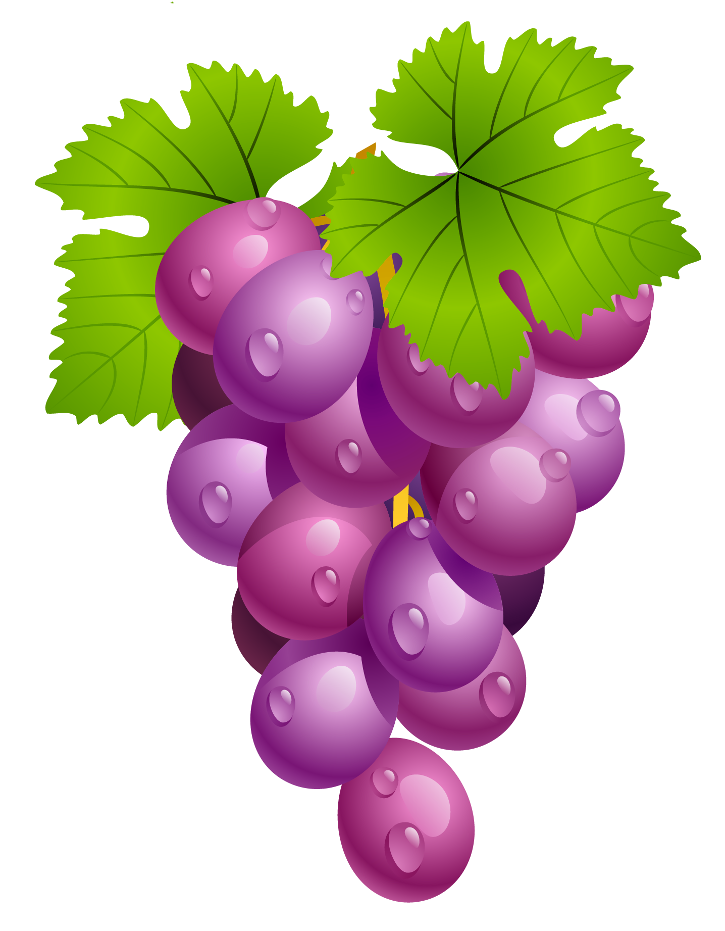 graphic black and white download Grapes with leaves png. Grape clipart printable