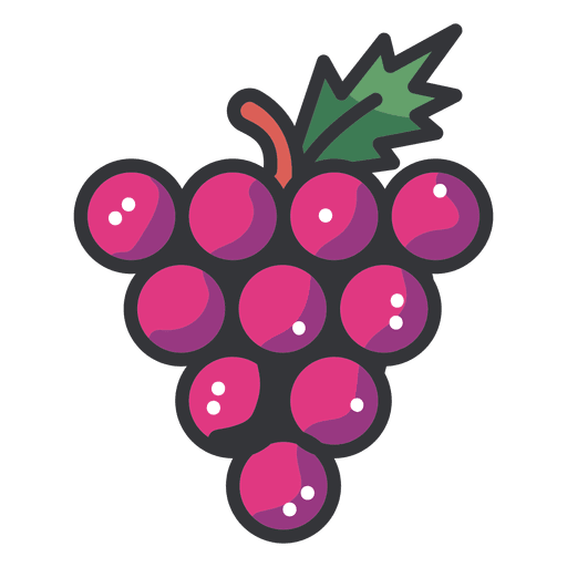 banner library Grapes cluster icon transparent. Grape clipart vector