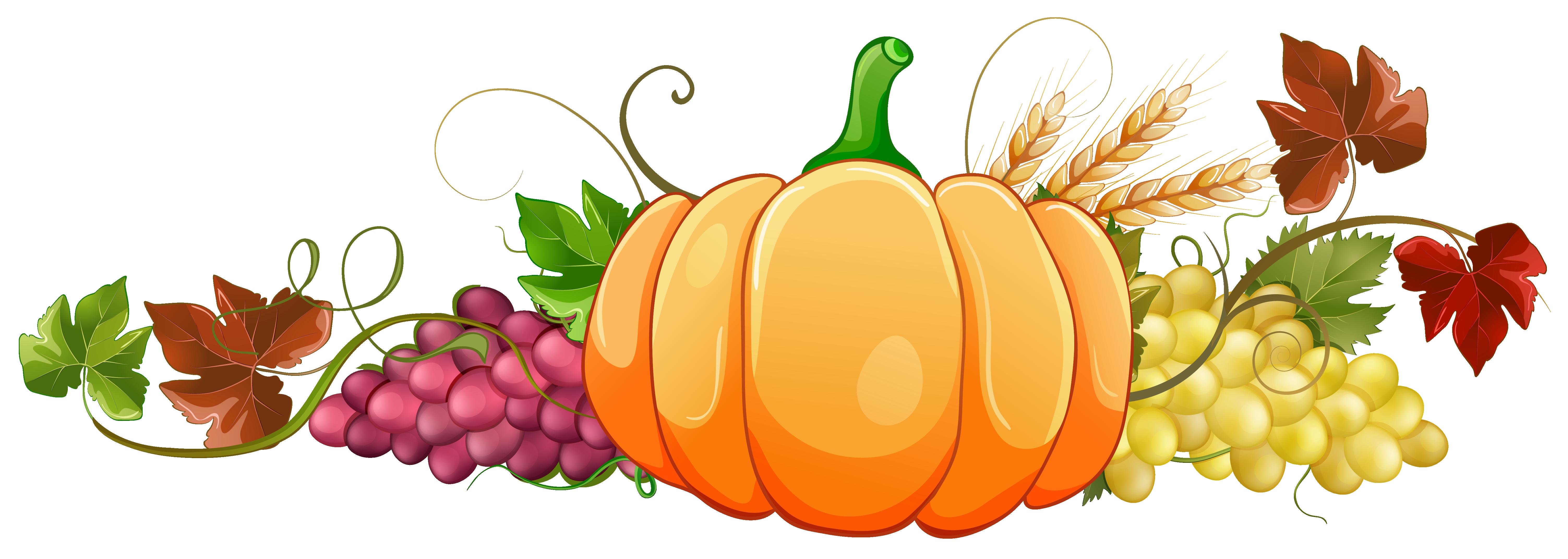 image free Grapes clipart autumn fruit. Pumpkin decor png image