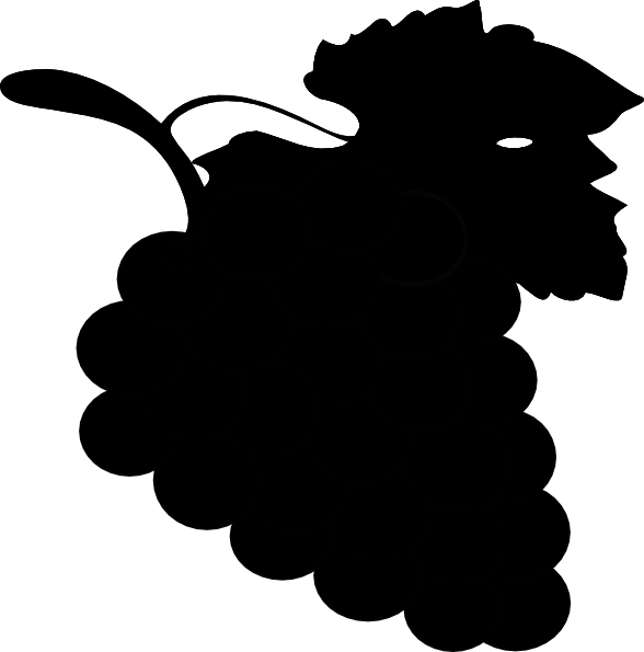 banner black and white stock Grapes clipart black and white. Grape clip art at