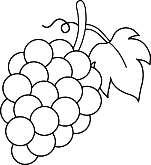 graphic free stock The top best blogs. Grapes clipart black and white