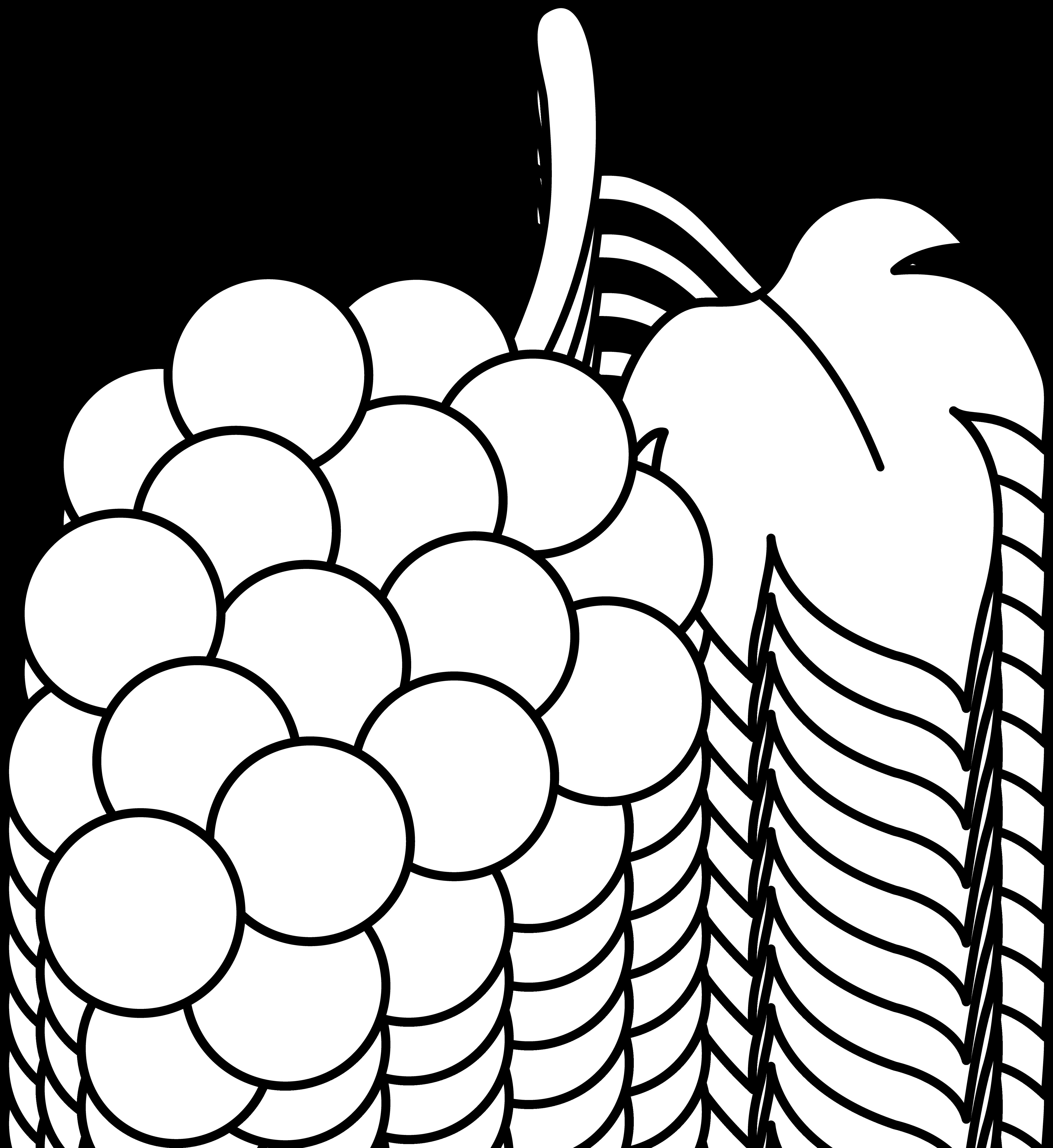 jpg Grapes clipart outline. Line art of a