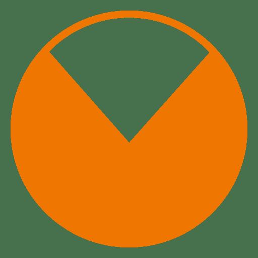 banner royalty free Vector chart pie. Orange transparent png svg