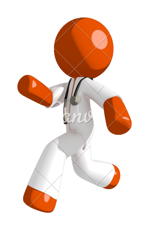 picture royalty free stock Graph clipart orange man. Doctor running or chasing