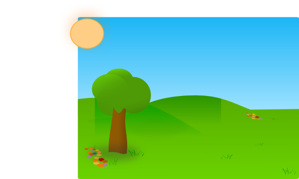 vector library library Trees Sky Grass Clip Art at Clker