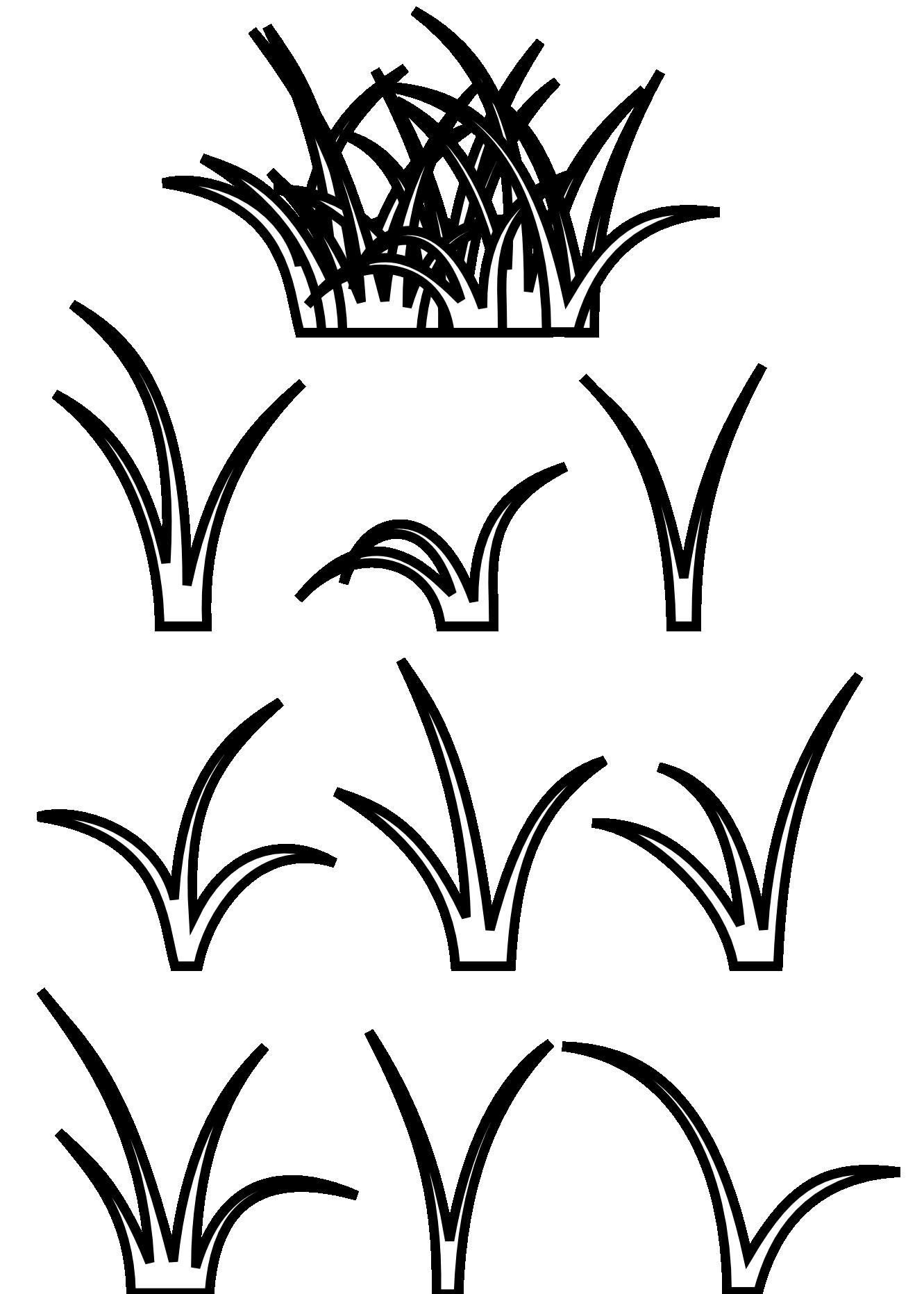 clip art freeuse Grass Black White Line Art Scalable Vector Graphics Svg
