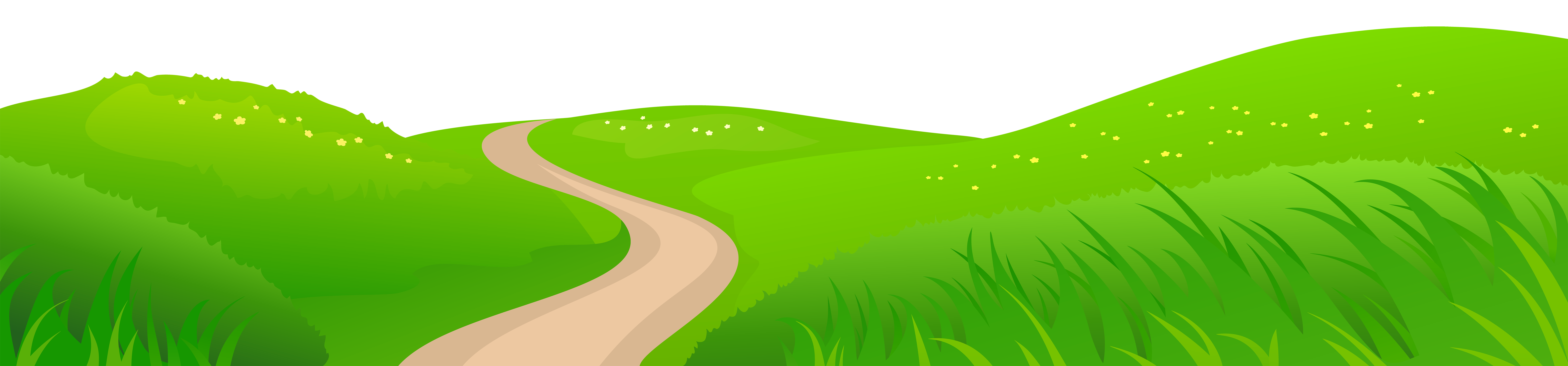 black and white download Yard clipart grassy path. Grass meadow transparent png