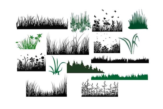 picture free stock Botanical clip art svg. Grass clipart silhouette