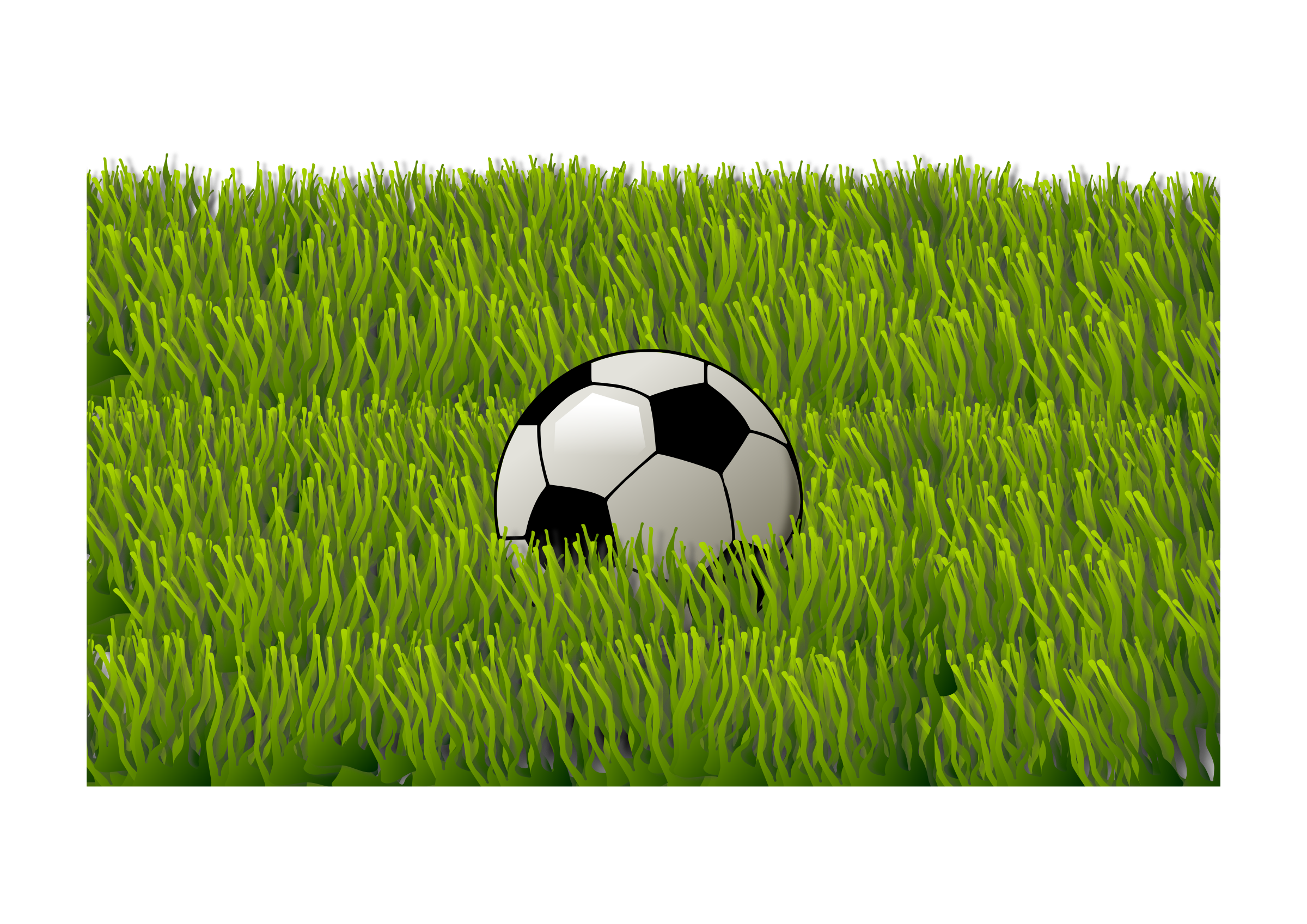 vector Grass clipart soccer ball. On big image png