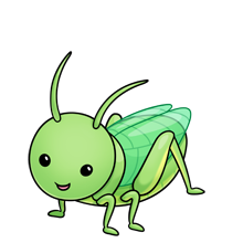 clipart royalty free library Fluff favourites pinterest clip. Grasshopper clipart.