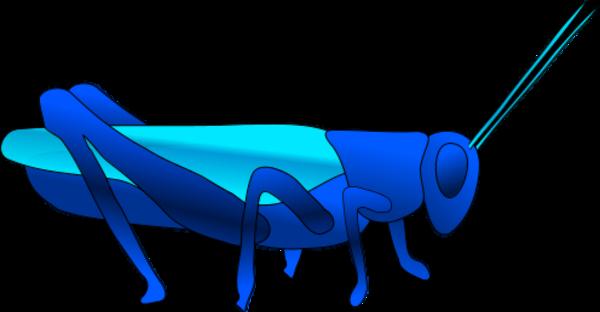 clip art free download Free clip art of. Grasshopper clipart blue