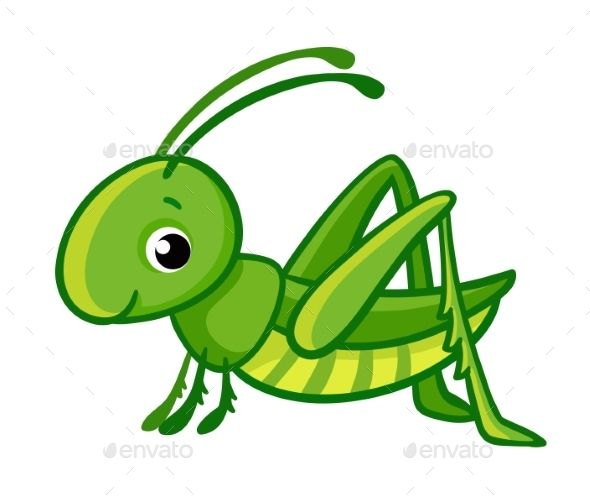 clipart transparent library Grasshopper clipart invertebrate. Vector isolated cute green.
