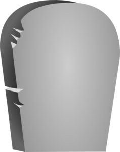 svg black and white Rounded tombstone clip art. Gravestone clipart printable