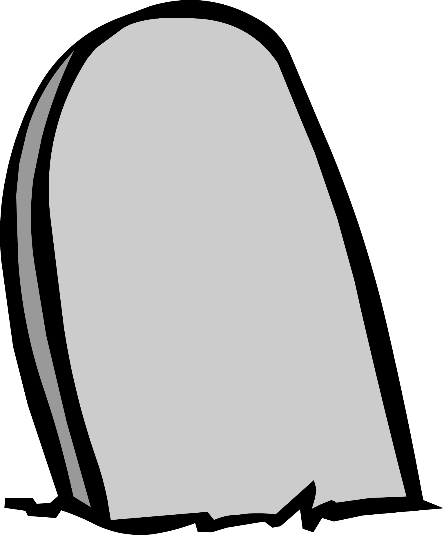 image black and white Gravestone PNG Image