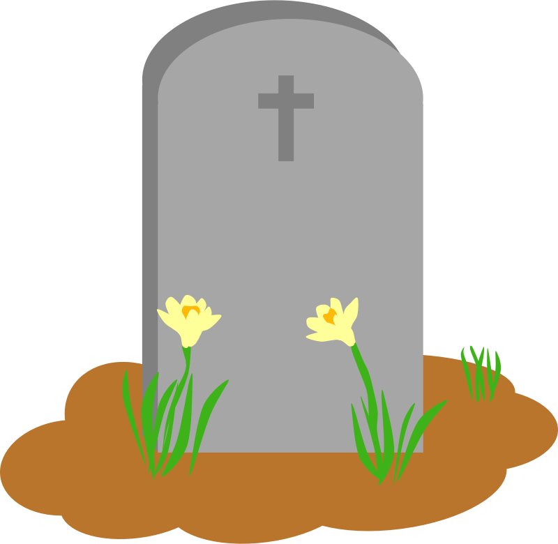 jpg freeuse library Gravestone rip cross free. Cemetery clipart grave stone.