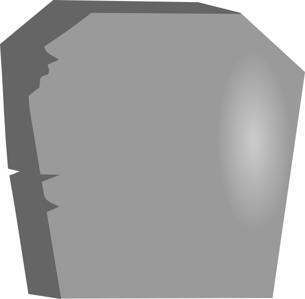 vector royalty free Large blank tombstone clip. Gravestone clipart