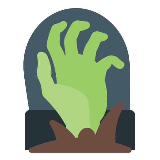 graphic free stock Gravestone clipart hand. Grave scary halloween icon