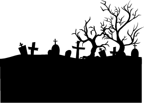 free Silhouettes . Graveyard clipart.